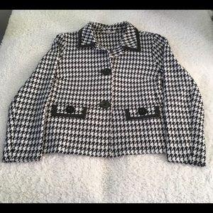 JM Collection Black & White Blazer Sz M